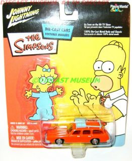 marges station wagon car the simpsons maggie diecast time left