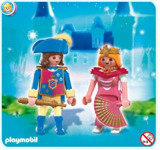 playmobil 4913 castle knight prince and princess new time left