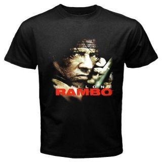 new rambo sylvester stallone movie black t shirt s 3xl
