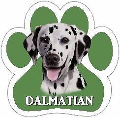Dalmatian Dog Paw Shaped Vinyl Car UV Coated Magnet 13125 47 Use on