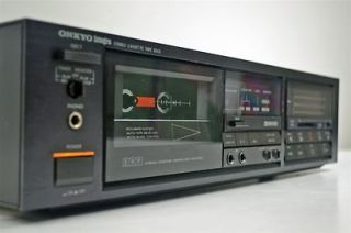 onyko stereo dual cassette deck tape player recorder ta 2048