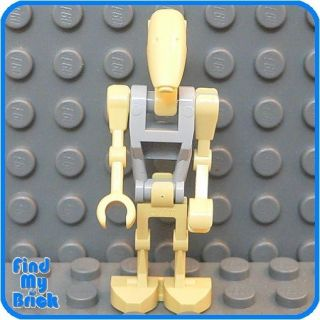 sw509 lego star wars battle droid minifigure gray 7662  3