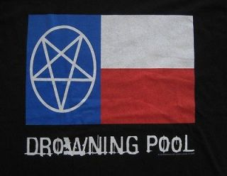Drowning Pool 2002 Concert Tour Shirt (Large) Texas Flag Art