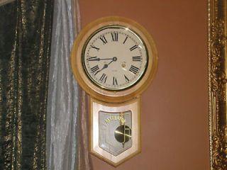 vintage regulator 31 day wall clock time left $ 217