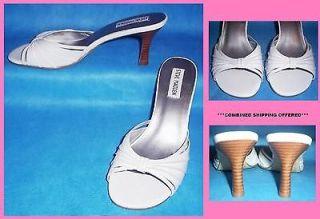 WOMENS STEVE MADDEN Cailyn SLIP ON SLIDE SANDALS, WHITE, SIZE 7 ½ M