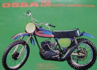 OSSA 250 MOTO CROSS PHANTOM Original Color Motorcycle Ad 1974
