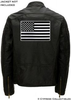 BLACK AMERICAN FLAG embroidered BIKER VEST PATCH big 11 INCH iron on