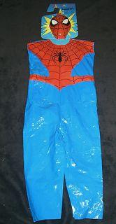 SPIDER MAN CHILD COSTUME halloween mask kid Size 7 8 vintage style