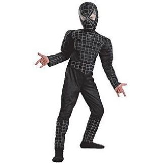 The Amazing Spider Man Black Muscle Child Costume Size 14 16 Disguise