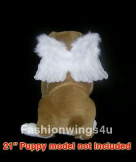 costume feather angel wings posing props for dogs cats time