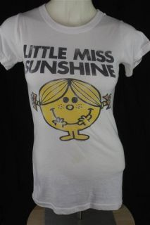 Junk Food Juniors SMALL Little Miss Sunshine White SS T shirt Stains