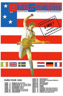 The BOSS Bruce Springsteen European Tour Poster Circa 1985