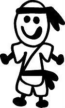VINYL STICK PEOPLE FAMILY CAR WALL DECAL STICKER QUALITY MARTIAL ARTS