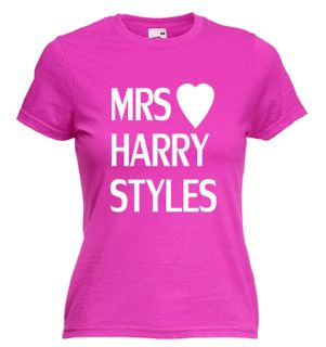 MRS HARRY STYLES STILES FRUIT OF THE LOOM T SHIRT ONE DIRECTION BNWT
