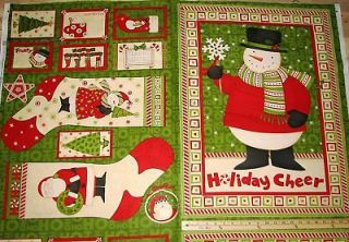 Ho Ho Holiday Santa Debbie Mumm Christmas Fabric Stocking 23
