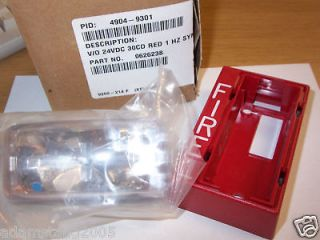 new simplex 4904 9301 30cd fire alarm red horn strobe