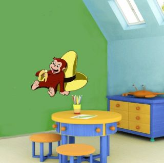 curious george cartoon wall decor sticker 25 x18 time left