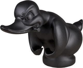 Flat Black Death Proof Duck Convoy Duck Hood Ornament Car Mascot Rat