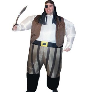 Inflatable Pirate Captain Fancy Dress Costume Fat Sumo Suit
