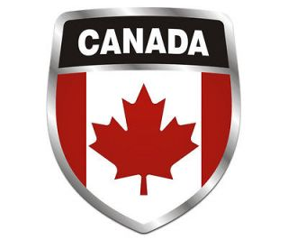 Canada Shield Flag Crest Canadian Car Vinyl Window Bumper Sticker