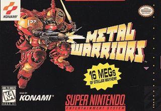 Metal Warriors Super Nintendo, 1995