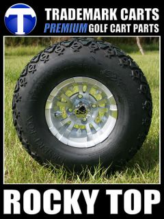 SPINDLE LIFT KIT + 10x7 Vampire WHEELS and A/T GOLF CART TIRES