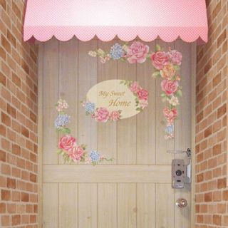 My Sweet Home Flower Adhesive Removable Wall Home Decor Accents