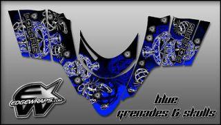 POLARIS DRAGON,SHIFT,RMK,I.Q.,SWITCHBACK   blue grenades & skulls