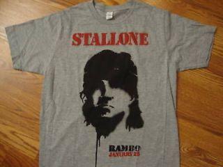 sylvester stalone rambo rocky t shirt s