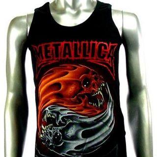 Sz M Metallica T Shirt Tank Top Vest Biker Rider Heavy Metal Rock Punk