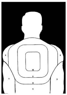 and Rifle BT 5 Human Silhouette Shooting Targets   19x25   31 Qty