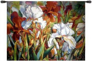 White Beauties Flower Fine Art Tapestry Wall Hanging 55x41 Home