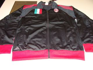 Team AC Milan 2012 13 Full Zip Track Top Jacket Adidas Italian Serie A