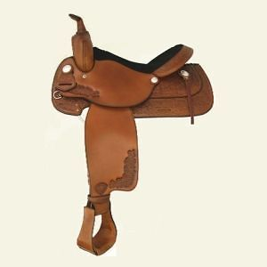 Tex Tan Albany Western Pleasure Trail Saddle   Pecan Brown   17