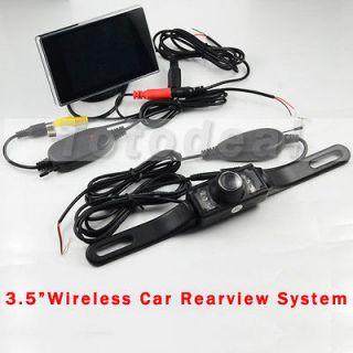 LCD Car Rear View Reverse Mirror Monitor + Wireless IR Backup