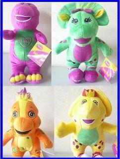 Tall Barney Singing Plush Doll, BJ, Riff & Baby Bop 4pcs set toy gift