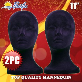 FOAM black velvet MANNEQUIN MANIKIN head display wig hat glasses
