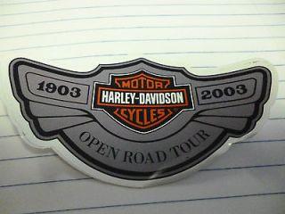 Harley Davidson Sticker   2003, 100th Anniversary. Open Road Tour. New