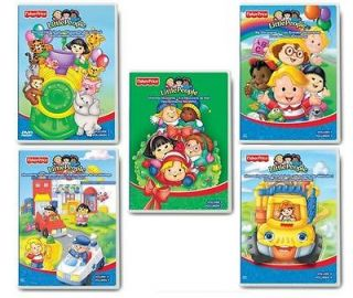 NEW ~ Fisher Price LITTLE PEOPLE Discovering DVDs Lot of 5 ~ CHRISTMAS