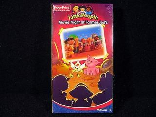Fisher Price Little People VHS Tape MOVIE NIGHT AT FARMER JEDS Vol 12