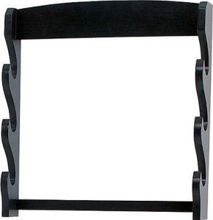 Newly listed NEW 3 Tier Black Wood Sword Wall Hanging Display