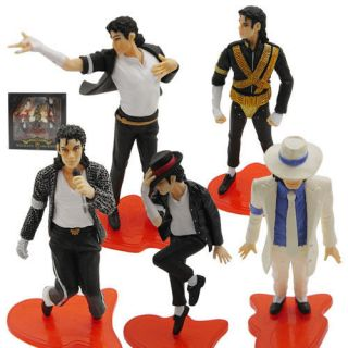 cool michael jackson icon pvc figure 5pc new in box
