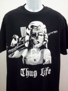MONROE T SHIRT DAY OF THE DEAD THUG LIFE NEW SIZE SM MED LG XL 2X