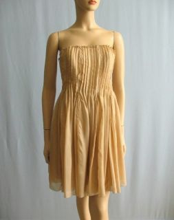 Haute Hippie Strapless Pleated Chiffon Dress M NWT $595 NoBELT