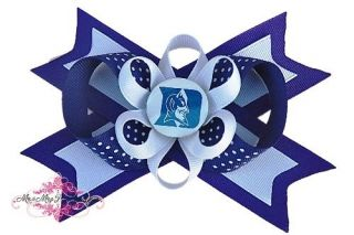 Duke Blue Devils Hair Bow on a Headband NCAA Baby