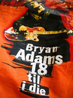 Bryan Adams 18 Til I Die European Tour of 96 Concert T Shirt