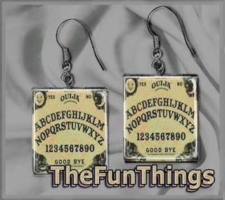 Ouija Board Scrabble Tile Earrings Custom Recycled Tile Jewelry Art