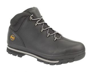 Timberland Mens Black Work Boots New Split Rock Safety Steel Toe Cap