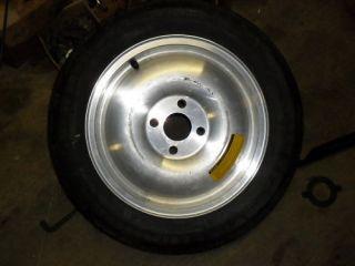 Mustang Aluminum Spare Wheel and Tire 15 4 Lug Skinny 93 Cobra GT