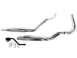 KRAFT TECH CUSTOM EXHAUST PIPES W/TAPERED MUFFLERS FOR HARLEY PANHEAD